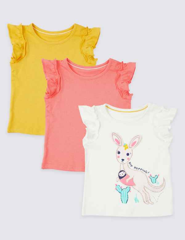 c7860f4e3f 3 Pack Pure Cotton T-Shirts (3 Months - 7 Years)