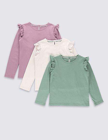 3 Pack Pure Cotton Plain T-Shirts (1-7 Years)
