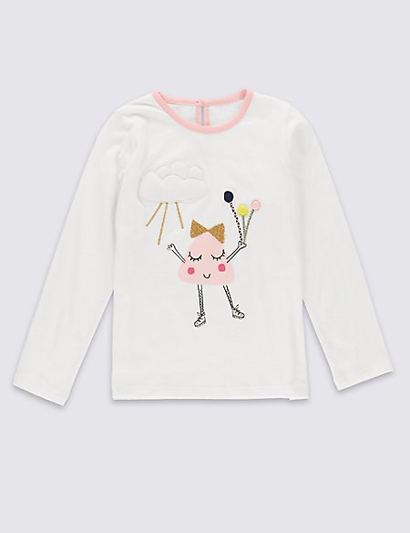 Pure Cotton T-Shirt (1-7 Years)