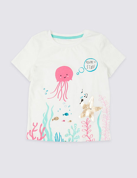 Pure Cotton Jellyfish T-Shirt (3 Months - 7 Years)