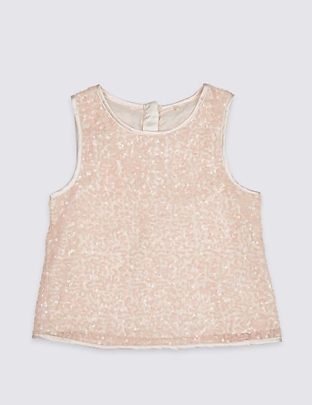 Sequin Vest Top (3-16 Years)