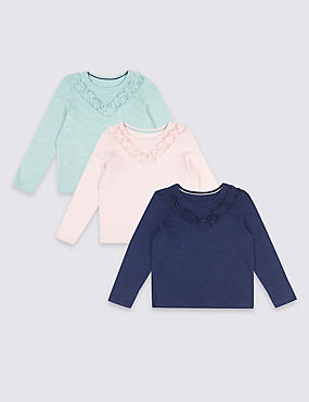 3 Pack Pure Cotton Tops (3 Months -7 Years)