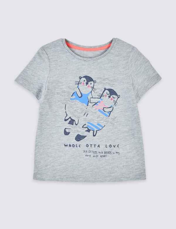 e21e1317 Otter Print T-Shirt (3 Months - 7 Years)