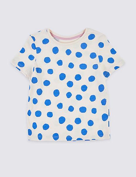 Spot Print T-Shirt (3 Months - 7 Years)