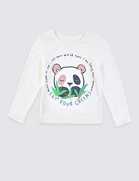 Pure Cotton Panda Top (3 Months - 7 Years)