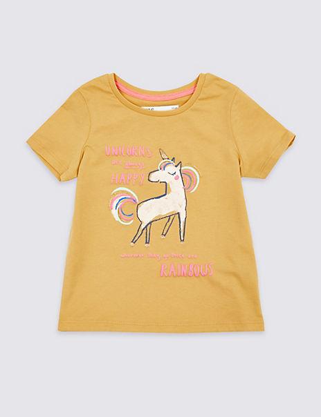 Pure Cotton Unicorn T-Shirt (3 Months – 7 Years)
