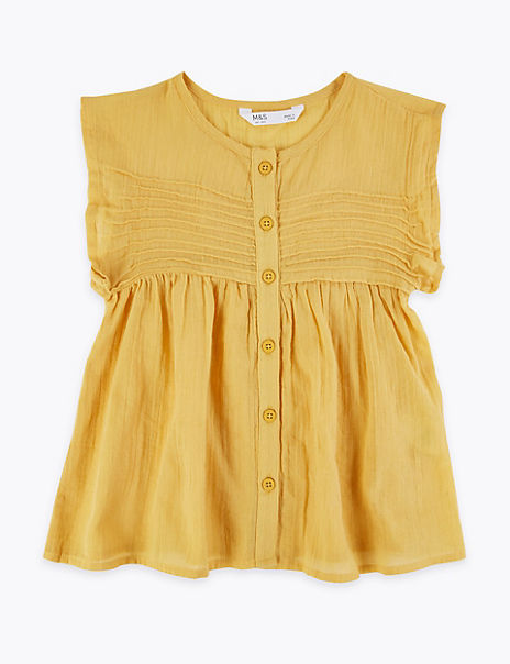 Cotton Button Through Blouse (2-7 Years)
