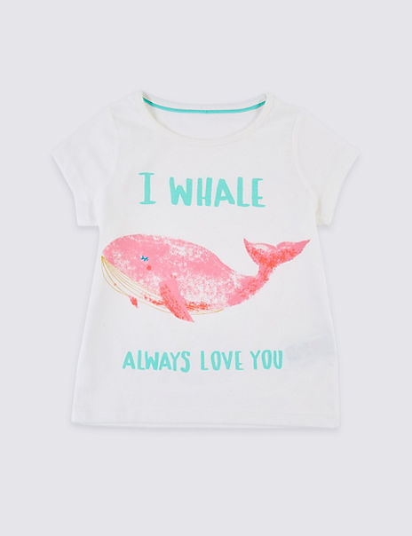 Pure Cotton Whale T-Shirt (3 Months - 7 Years)
