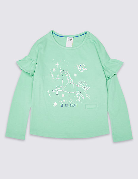 Pure Cotton Easy Dressing Frill Top (3 Months - 7 Years)
