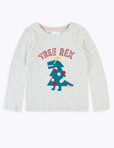 Tree Rex Slogan Top (3 Months - 7 Years)