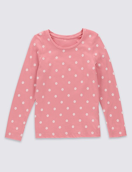 Pure Cotton Essential Long Sleeve Top with StayNEW™ (3 Months - 5 Years)