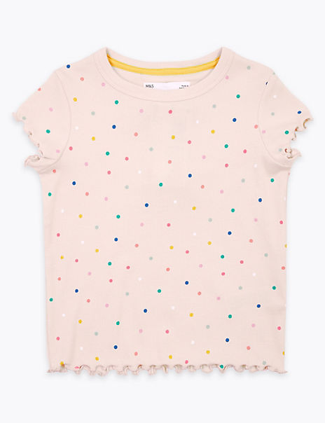 Spot Print T-Shirt (2-7 Years)