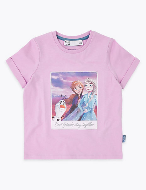 Pure Cotton Frozen 2™ Best Friends T-Shirt (2-10 Yrs)