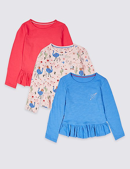 3 Pack Pure Cotton Tops (3 Months - 7 Years)