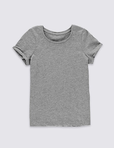 Pure Cotton Short Sleeve Top with StayNEW™ (3 Months - 5 Years)