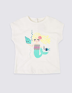 Easy Dressing Mermaid T-Shirt (3 Months - 7 Years)