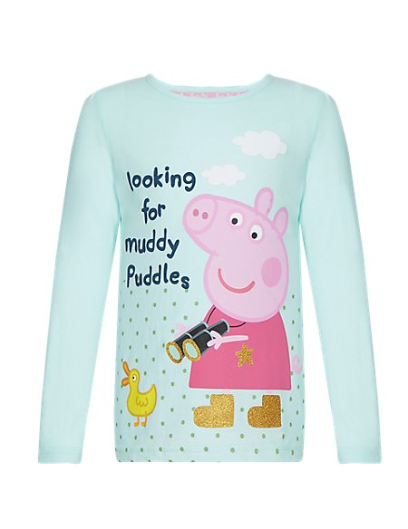 Pure Cotton Peppa Pig™ Girls T-Shirt (1-7 Years)