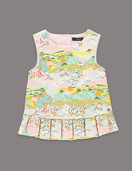 Louise Wilkinson Cotton Rich Scenery Print Top (1-7 Years)