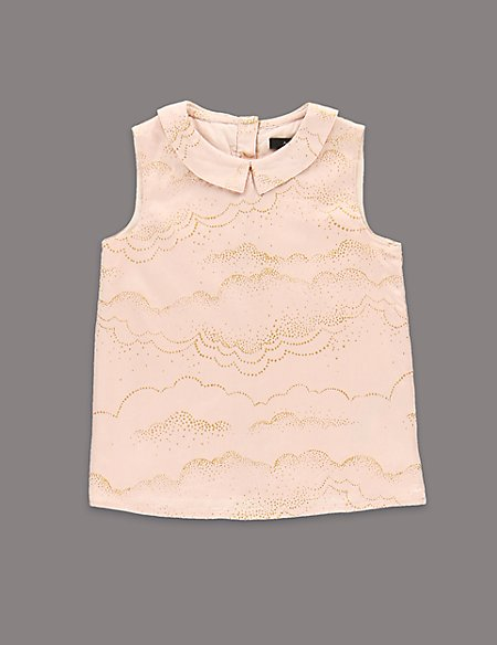 Louise Wilkinson Sleeveless Glitter Effect Woven Top (1-7 Years)