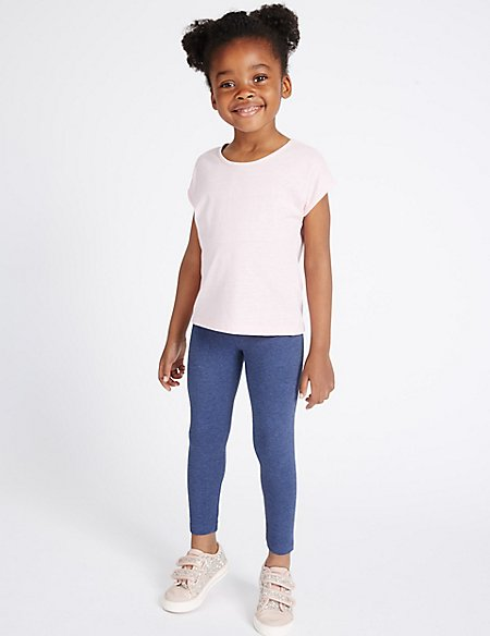 Cotton Rich Leggings with Stretch (3 Months - 5 Years)