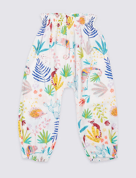 Pure Cotton Printed Trousers (3 Months - 7 Years)
