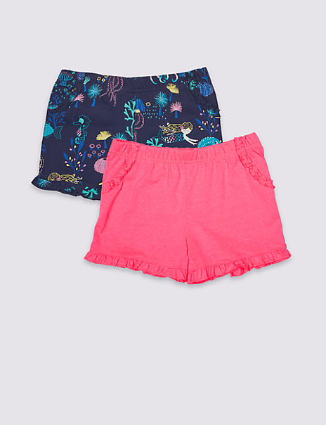 2 Pack Frill Shorts (3 Months - 7 Years)