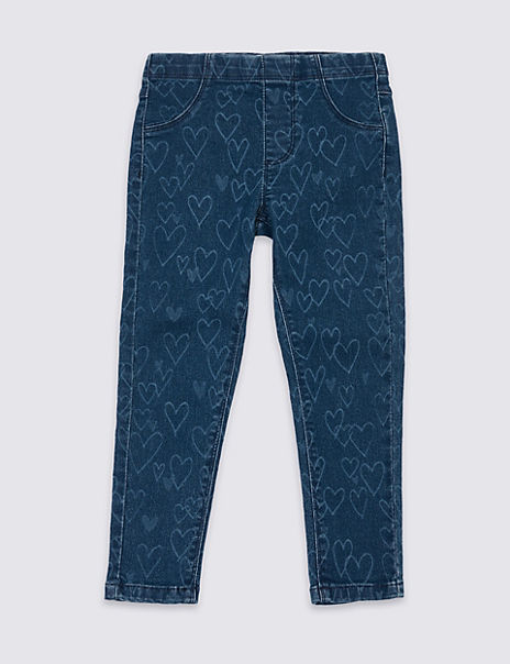 Heart Print Jeggings (3 Months - 7 Years)
