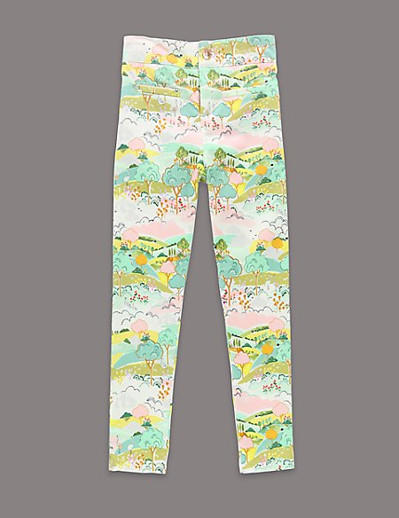 Louise Wilkinson Cotton Rich Scenery Print Trousers (1-7 Years)