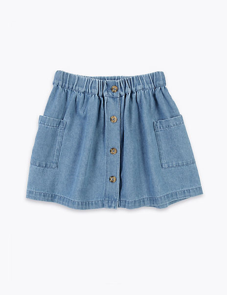 Chambray Button Up Skirt (2-7 Years)