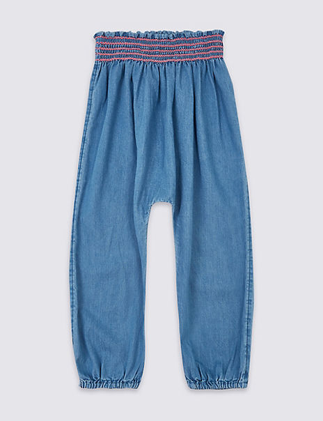 Pure Cotton Chambray Trousers (3 Months - 7 Years)