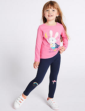 Cotton Rich Leggings with Stretch (3 Months - 7 Years)