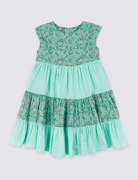 Pure Cotton Tiered Dress (3 Months - 7 Years)