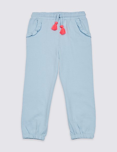 Pure Cotton Drawstring Trousers (3 Months - 7 Years)