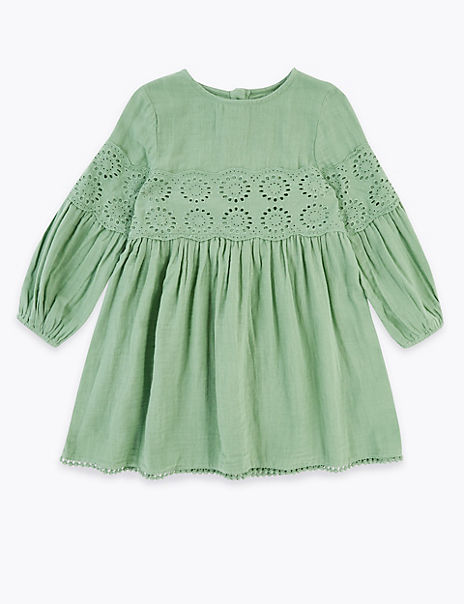 Cotton Broderie Anglaise Dress (2-7 Years)