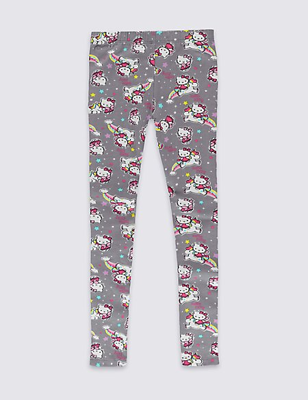 Hello Kitty Cotton Rich Printed Leggings with Stretch (1-7 Years)