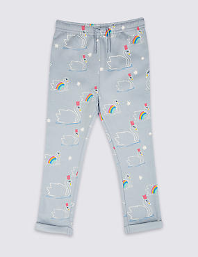 Cotton Rich Printed Joggers (3 Months 7 Years)