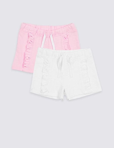 2 Pack Cotton Rich Shorts (3 Months - 7 Years)