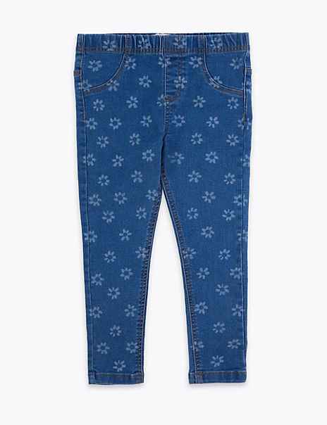 Floral Print Jeggings (2-7 Years)