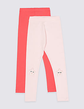 2 Pack Leggings with Stretch (3 Months - 7 Years)
