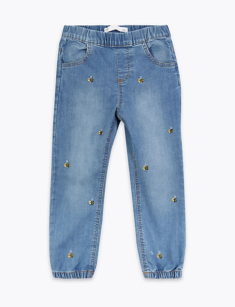 Embroidered Bee Jeans (2-7 Years)