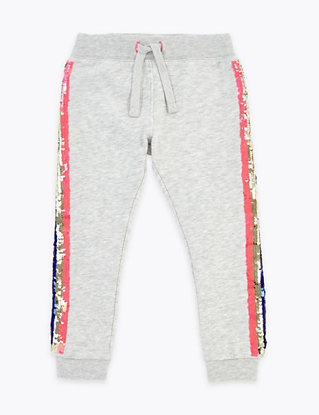 Reversible Sequin Side Stripe Joggers (2-7 Years)