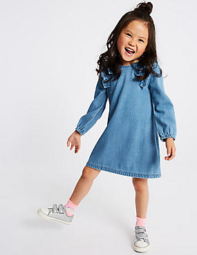 Denim Frill Dress (3 Months - 7 Years)