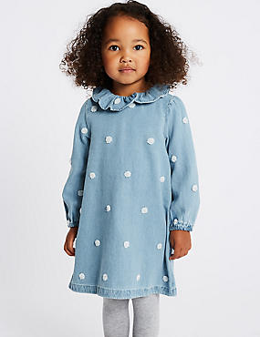 Denim Spot Dress (1-7 Years)