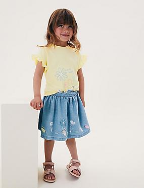 Mini Denim Embroidered Skirt (2-7 Yrs)