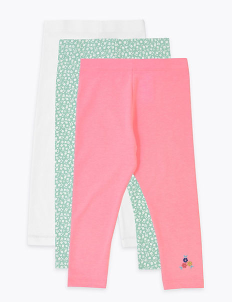 3 Pack Regular Ditsy Cropped Leggings (2-7 Years)