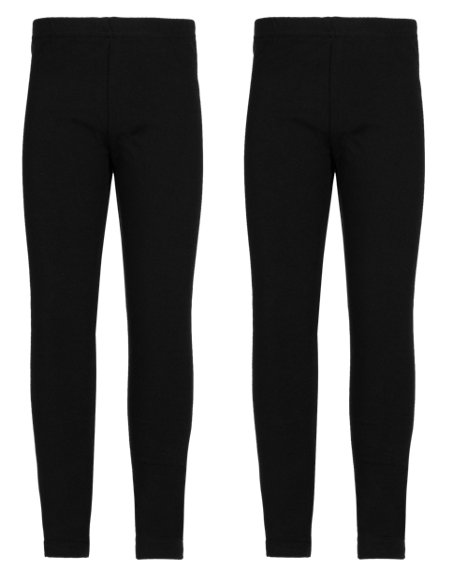 2 Pack Cotton Rich Leggings (1-7 Years)