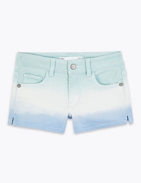 Denim Blue Ombre Shorts (2-7 Years)