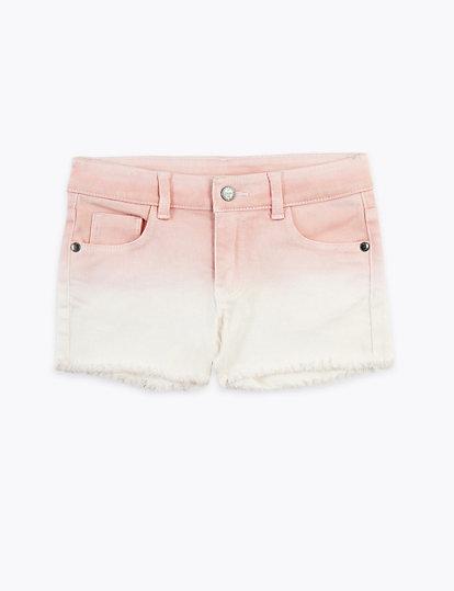 Denim korte broek met kleurverloop (2 7 jaar)