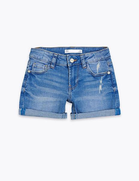 Cotton Rich Denim Roll Up Shorts (2-7 Years)