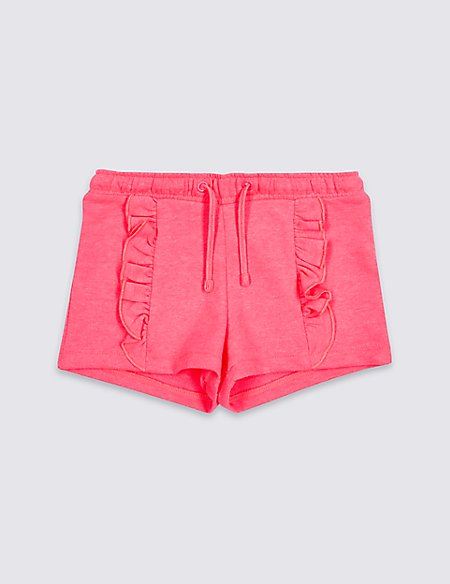 Cotton Blend Frill Shorts (3 Months - 7 Years)